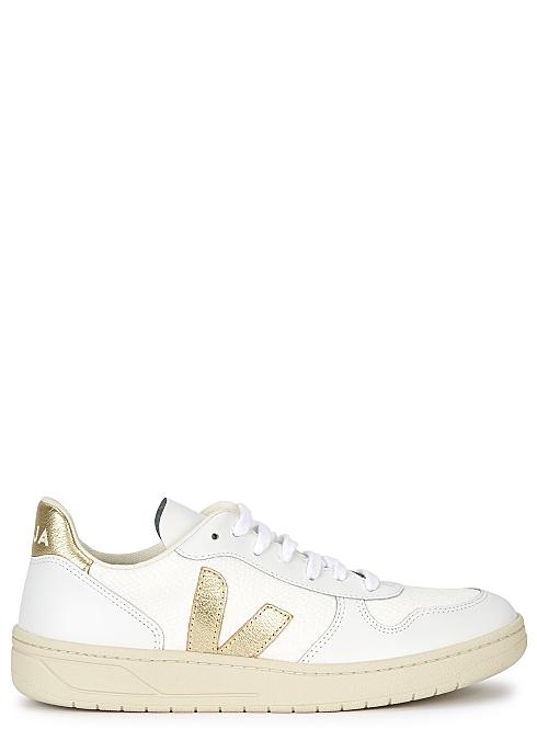 V-10 white mesh sneakers $120.00