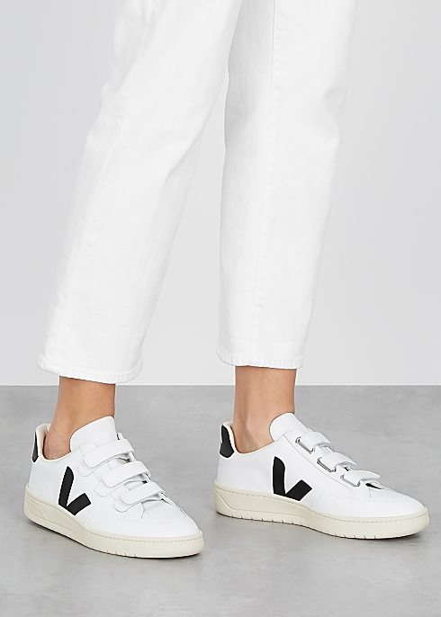 V-Lock white leather sneakers $135.00