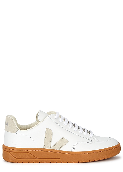 V-12 white leather sneakers $130.00