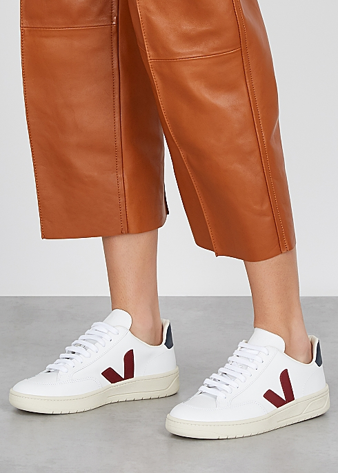 V-12 white leather sneakers $‌130.00https://fave.co/2GnkLkL