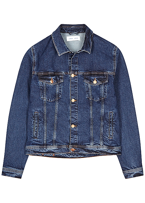SAMSØE & SAMSØE Laust blue stretch-denim jacket $‌200.00