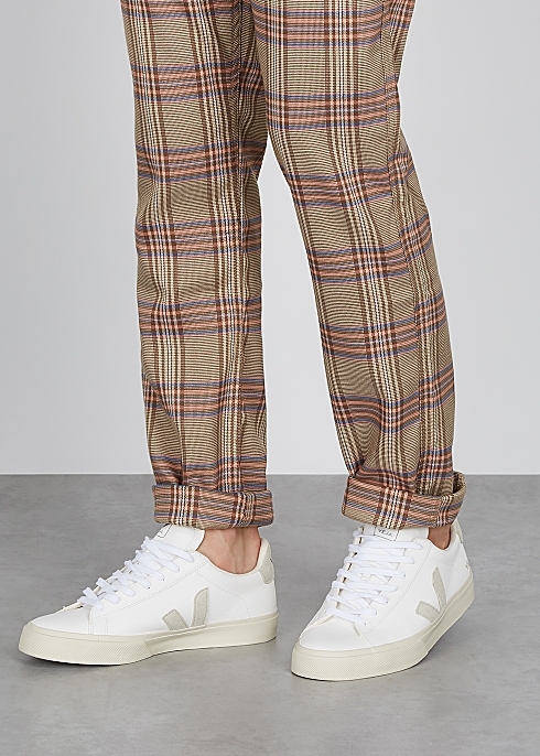 Campo white leather sneakers $120.00