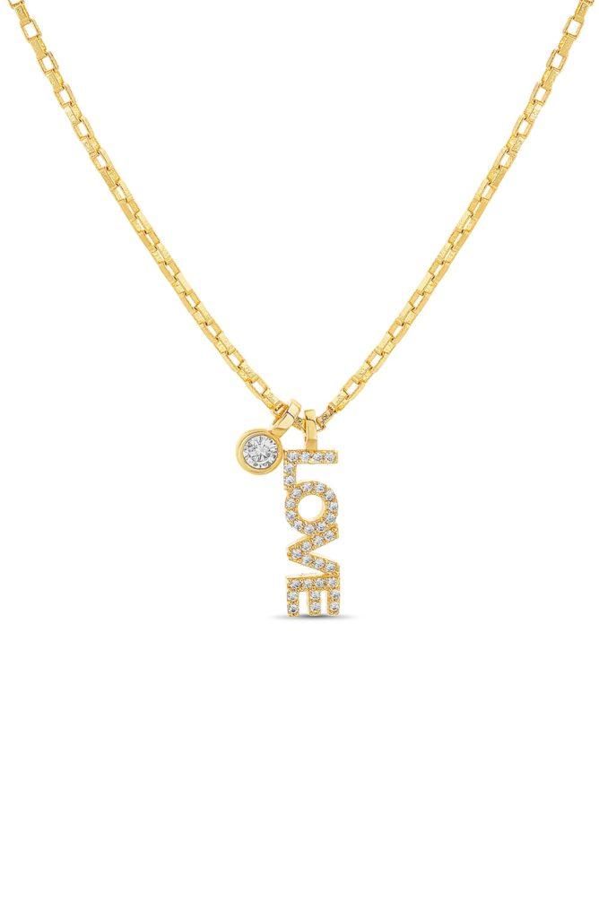 Love Pendant Necklace LESA MICHELE $44.00