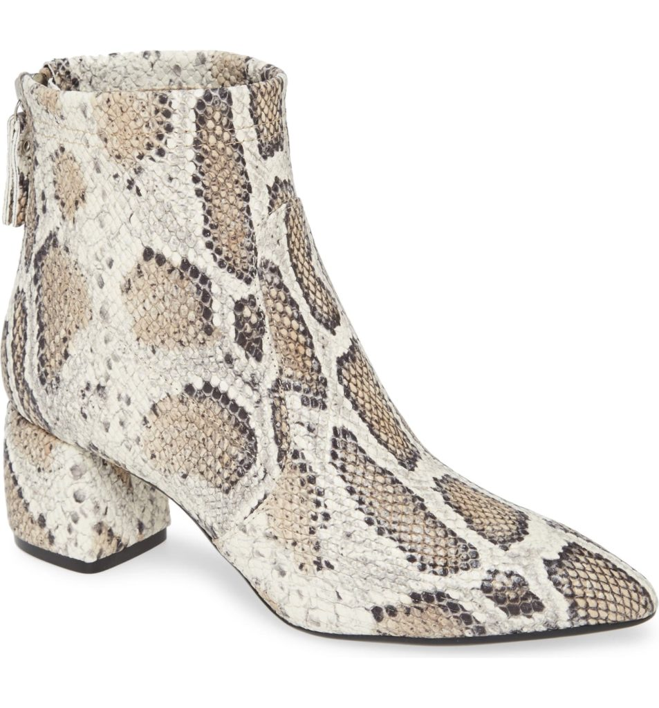 Snake Print Stretch Leather Bootie $498.00