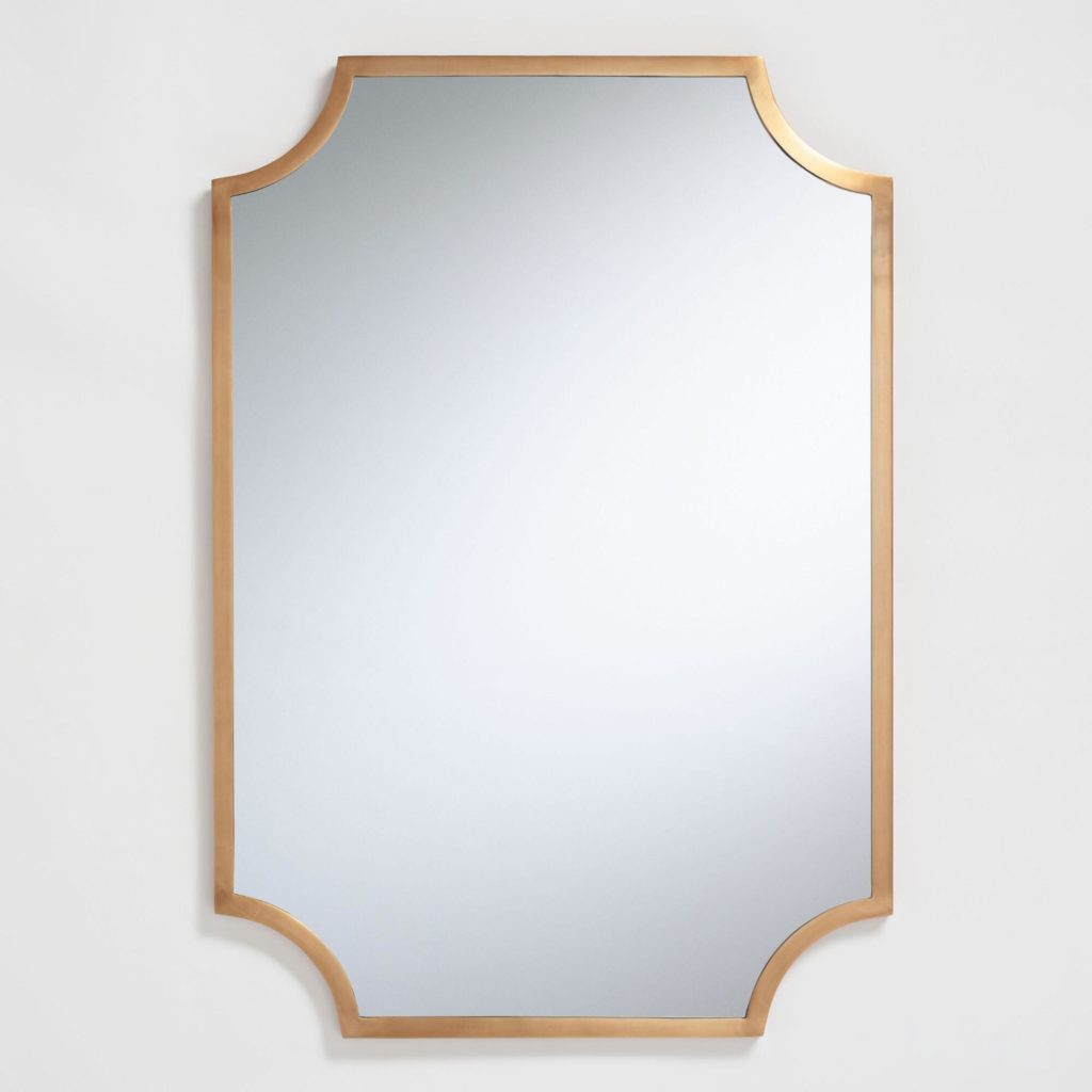 Brass Notched Ophelia Mirror $159.99