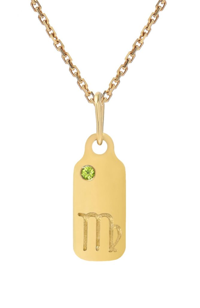 Zodiac Dog Tag Necklace $250.00