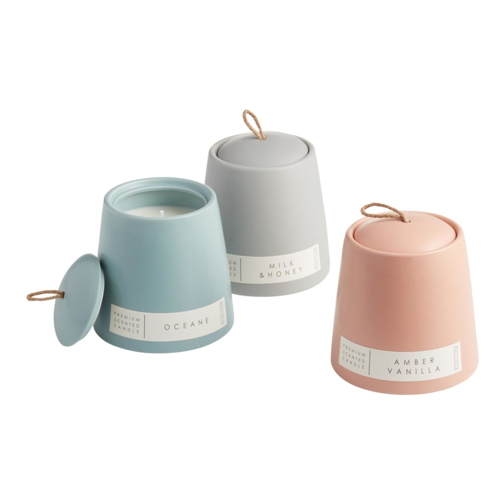 Modern Ceramic Filled Jar Candle Collection$17.99