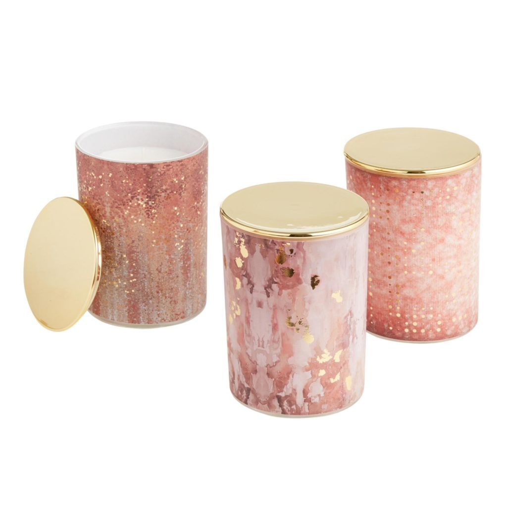 Art Deco Gold Filled Jar Candle Collection$14.99