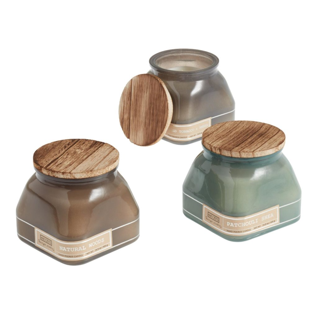 Milk Glass With Wood Lid Filled Jar Candle Collection $17.99