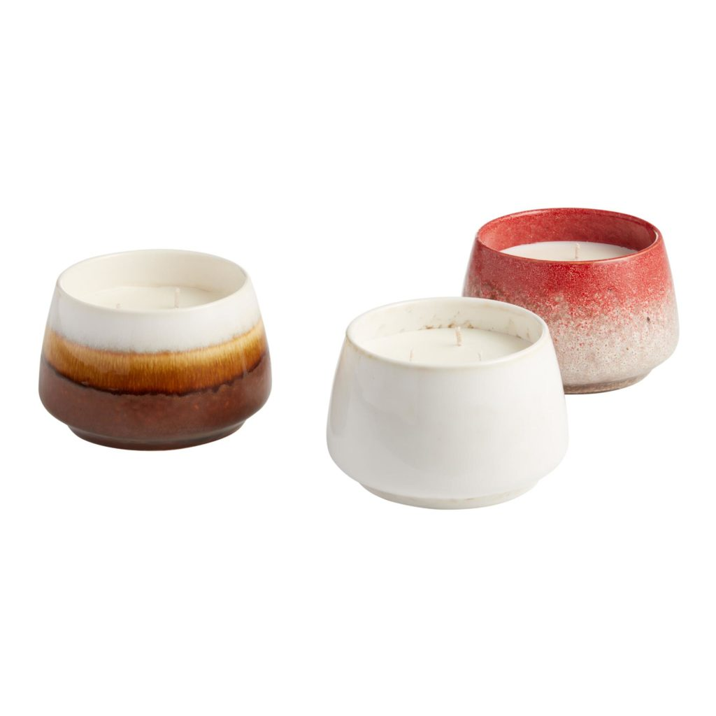 Reactive Glaze Soy Wax Filled Jar Candle Collection $14.99