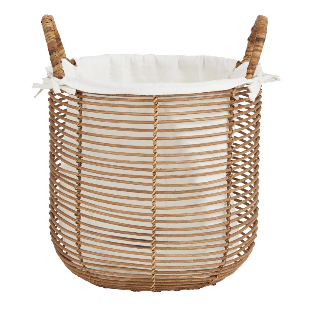 Natural Rattan Hayley Tote Basket With Lining $39.99