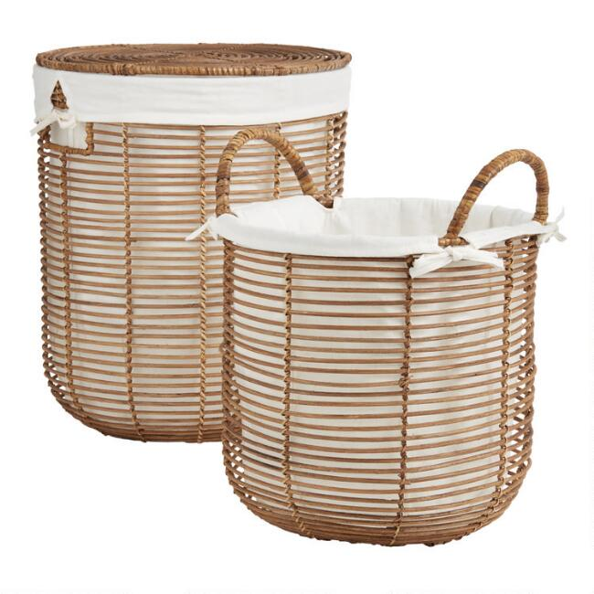 Natural Rattan Hayley Basket Collection$39.99 - $69.99
