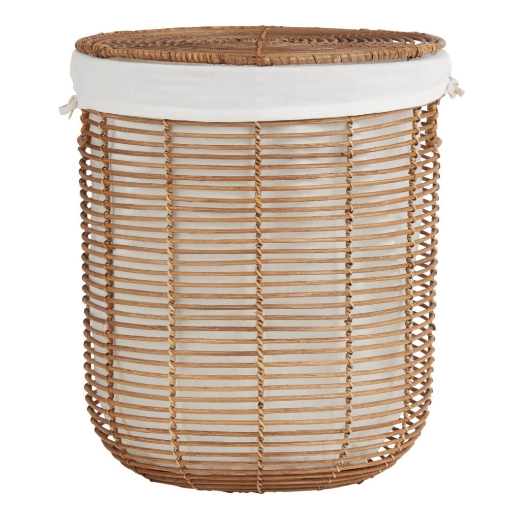 Natural Rattan Hayley Hamper With Lid And Lining $69.99