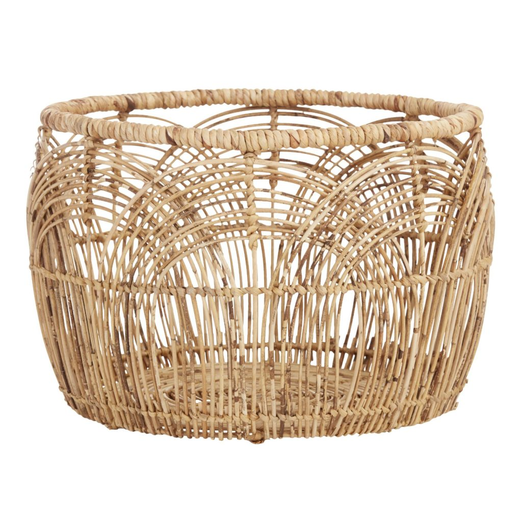 Large Natural Rattan Eve Basket $69.99