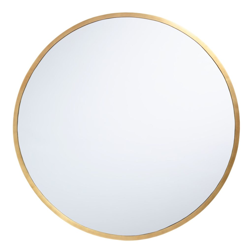 Oversized Round Brass Sana Mirror $279.99
