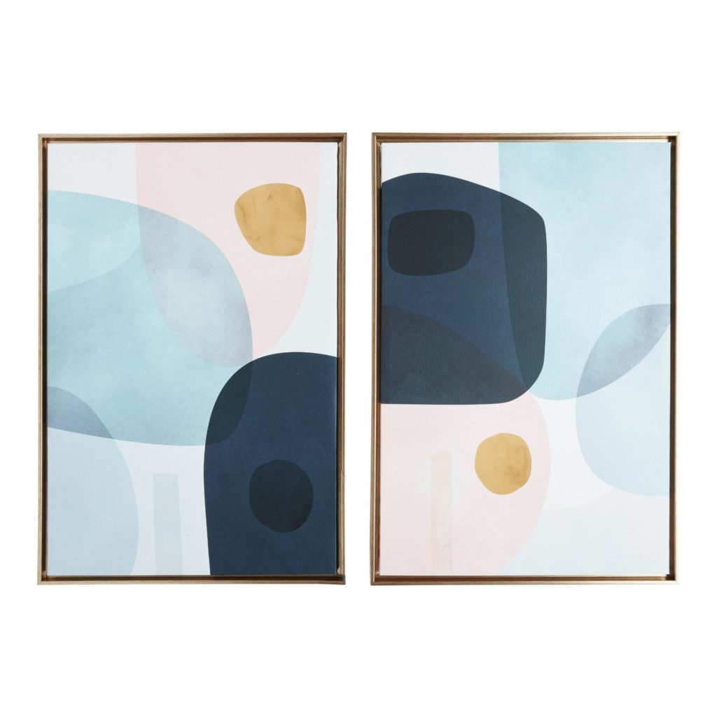 Gold Monde I-Ii By Victoria Borges Framed Wall Art Set Of 2 $79.99