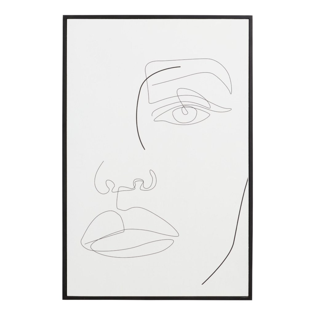 Face Lines By Madara Framed Wall Art $47.99