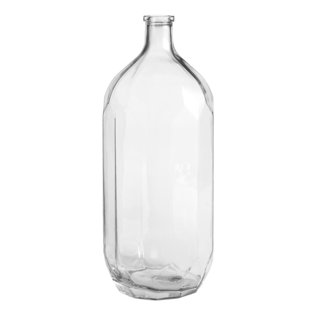Tall Clear Glass Faceted Jug Vase $24.99