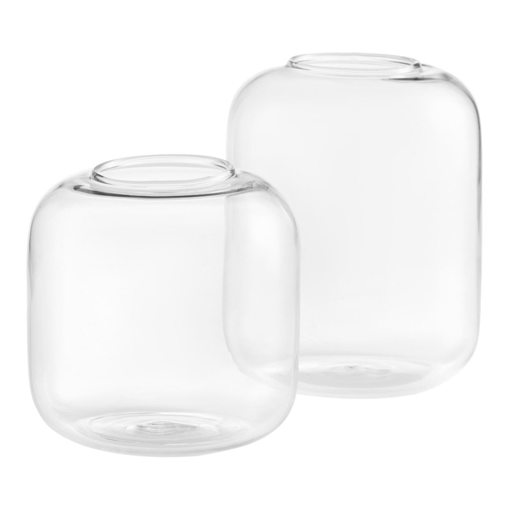 Clear Glass Cylinder Bud Vases Set Of 4 $11.96-15.96