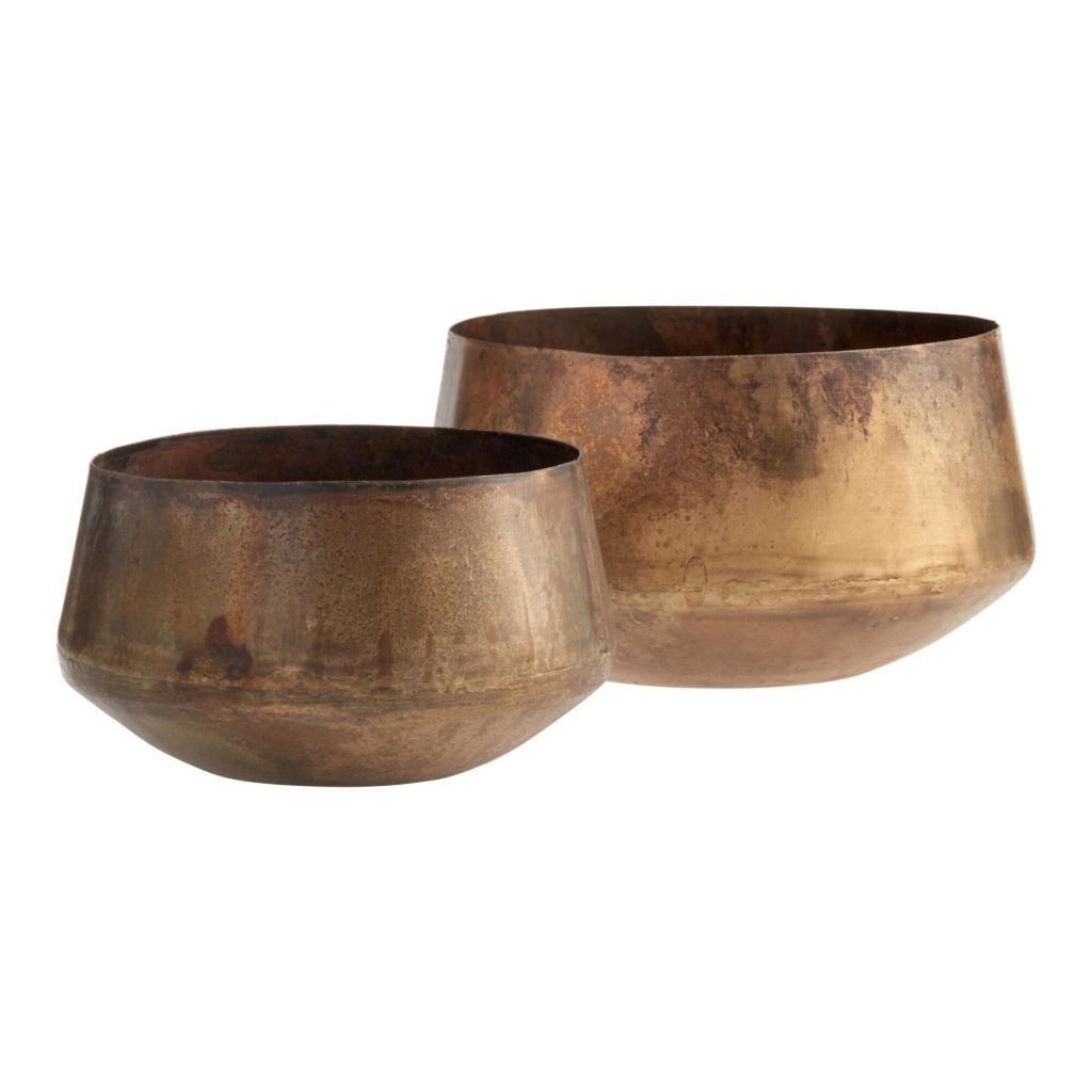 Wide Aged Brass Patina Planter $9.99-14.99