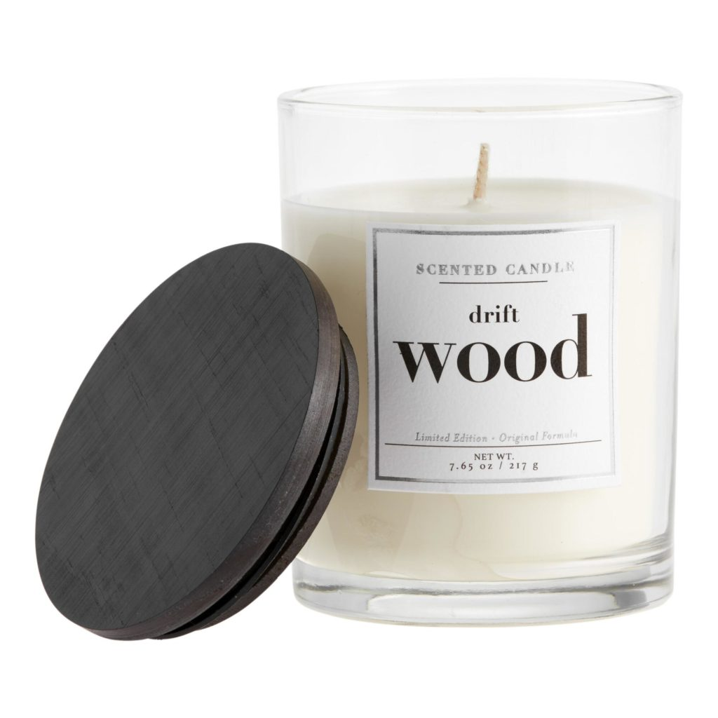 Driftwood Black And White Filled Jar Candle$12.99