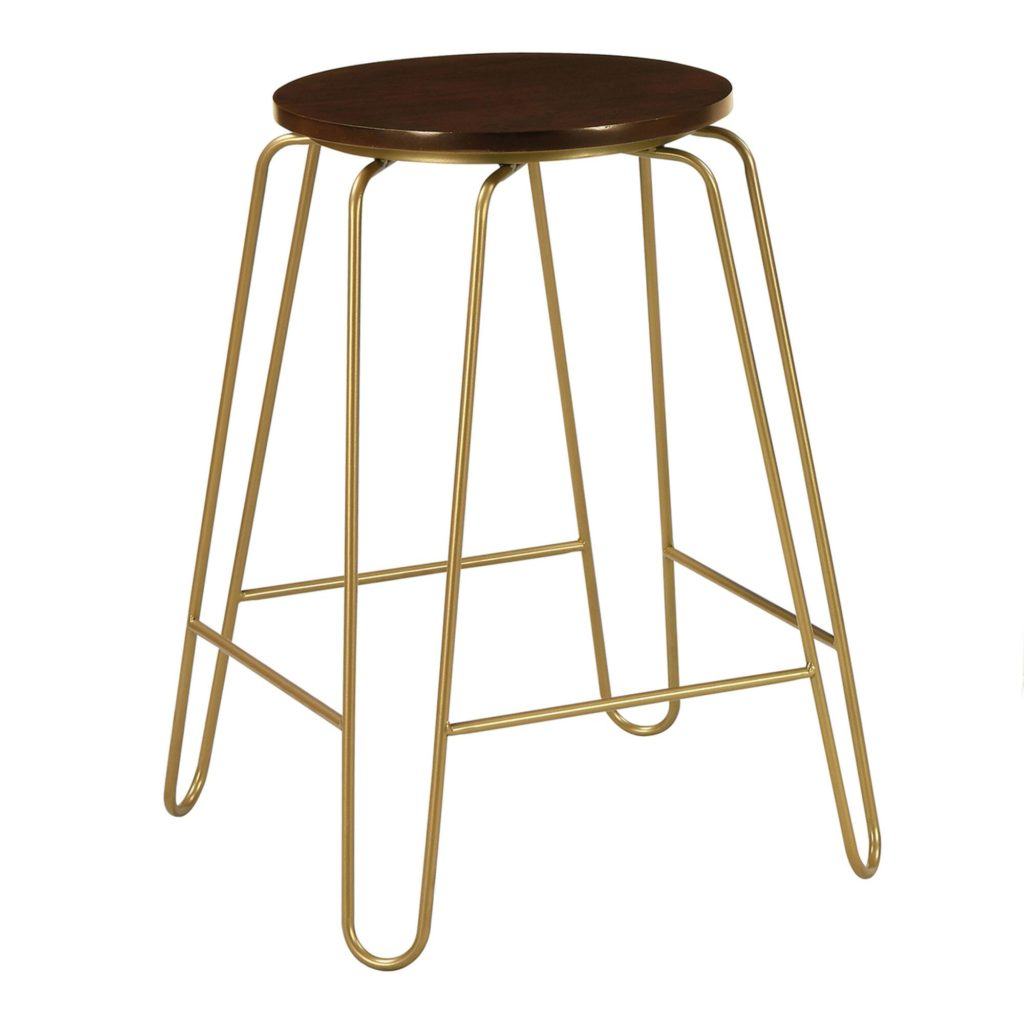Gold Hairpin And Elm Backless Ryker Counter Stools Set Of 2 $179.99