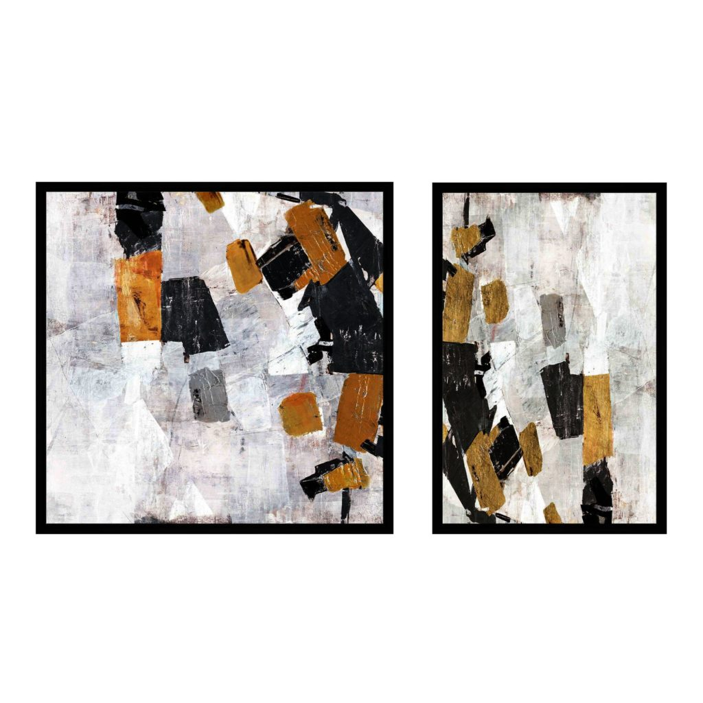 Gray Sky Dive Abstract Framed Canvas Wall Art Set Of 2 $239.99