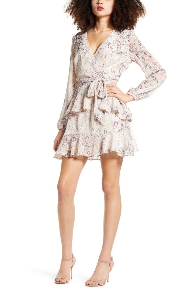 Tiered Wrap Dress $49.00