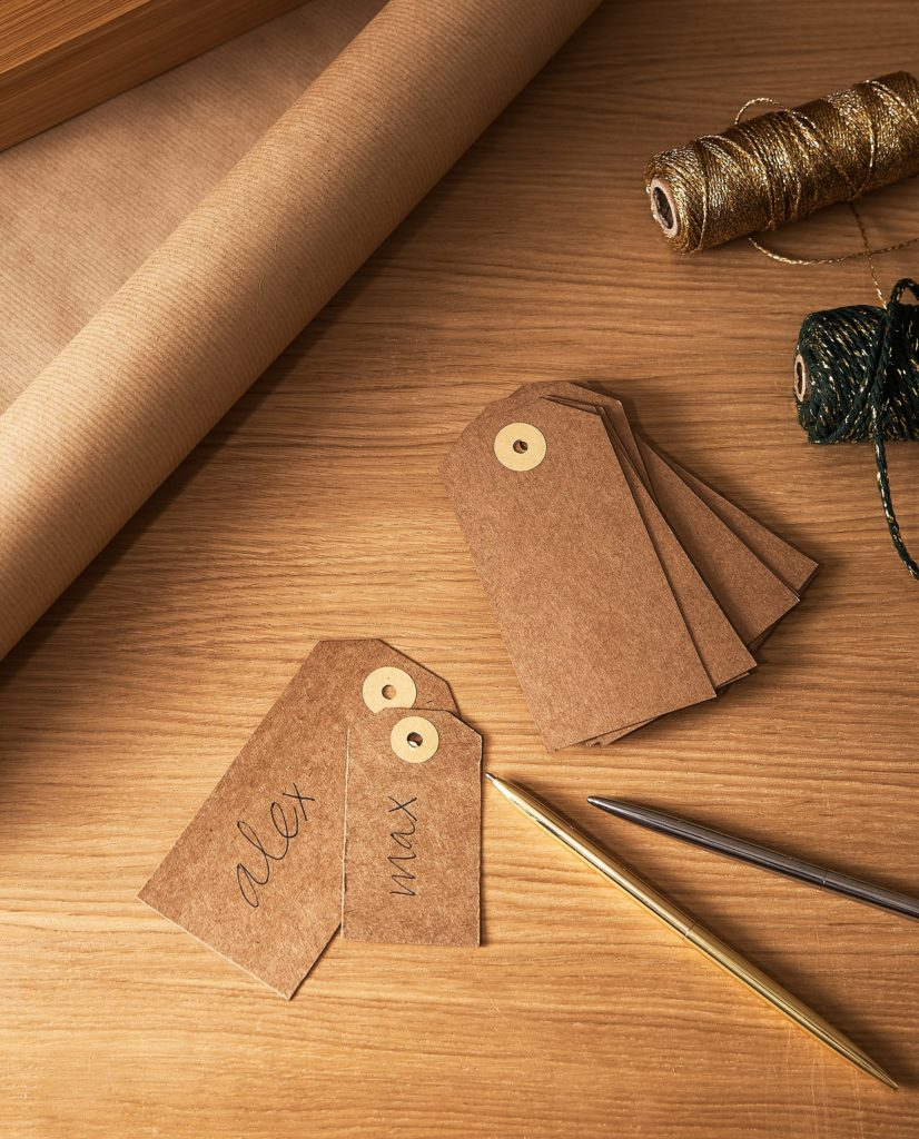 KRAFT PAPER LABELS (PACK OF 25) $4.90