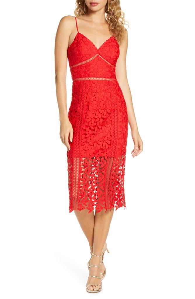 Roxy Sleeveless Lace Midi Dress BARDOT $129.00