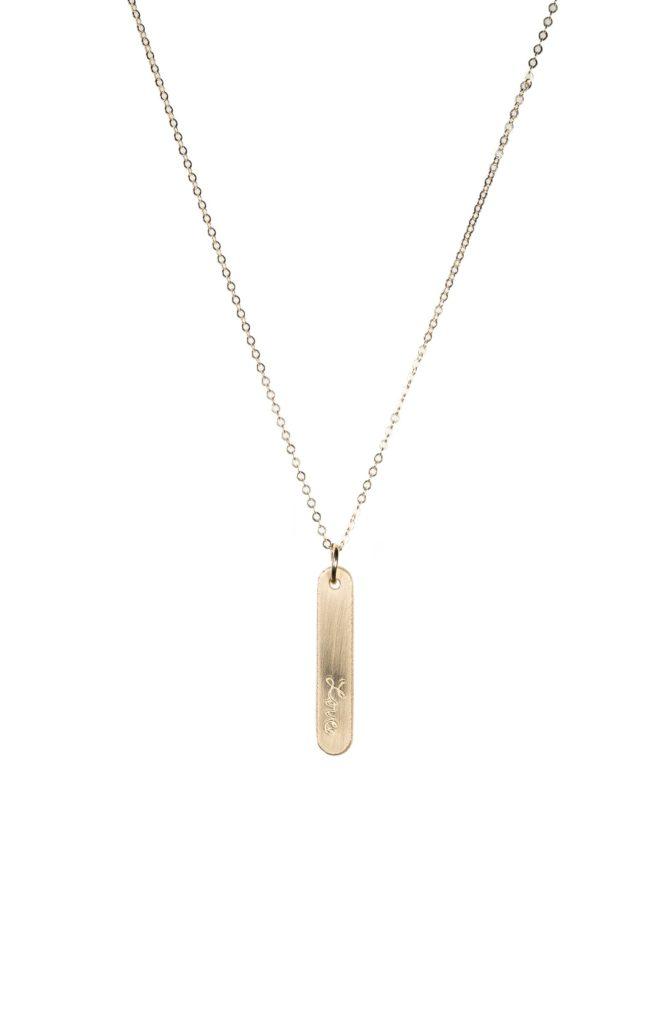 Love Bar Pendant Necklace NASHELLE $45.00