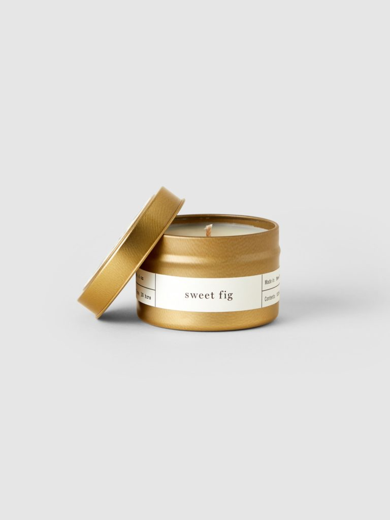 Brooklyn Candle Studio Sweet Fig Gold Travel Candle $15.00