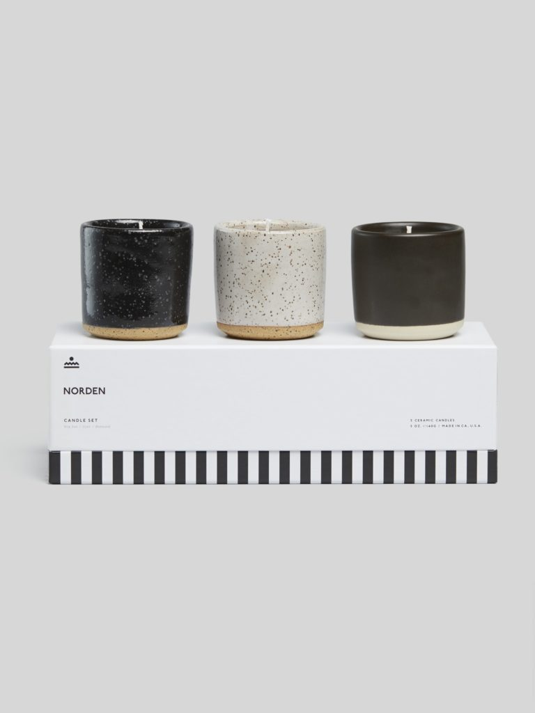 Norden Ceramic Candle Set $95.00