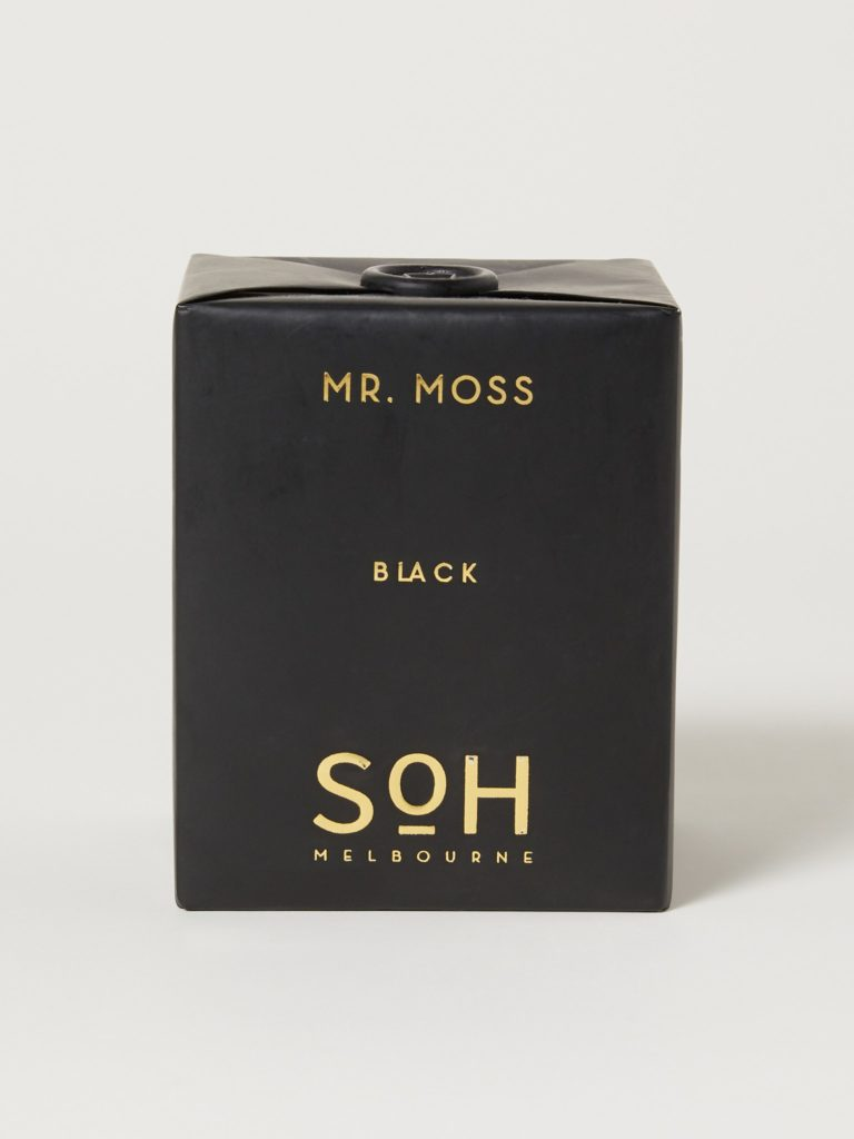 SoH Melbourne Mr. Moss Black Matte Candle $70.00