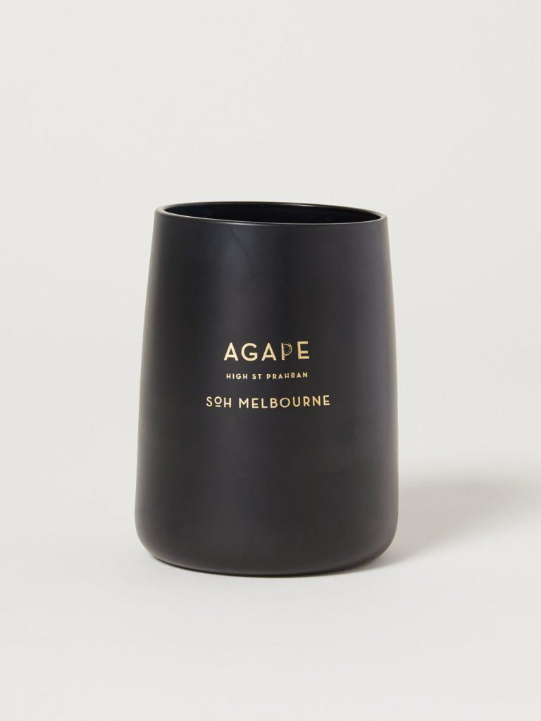 SoH Melbourne Agape Black Matte Candle $70.00