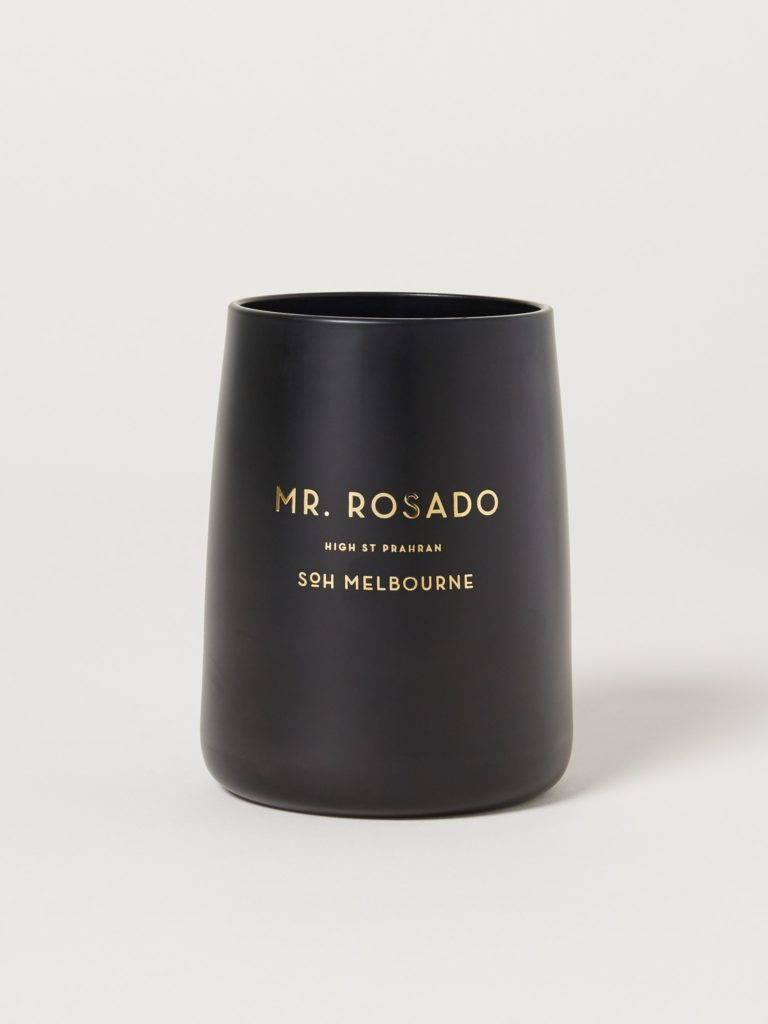 SoH Melbourne Rosado Black Matte Candle $70.00