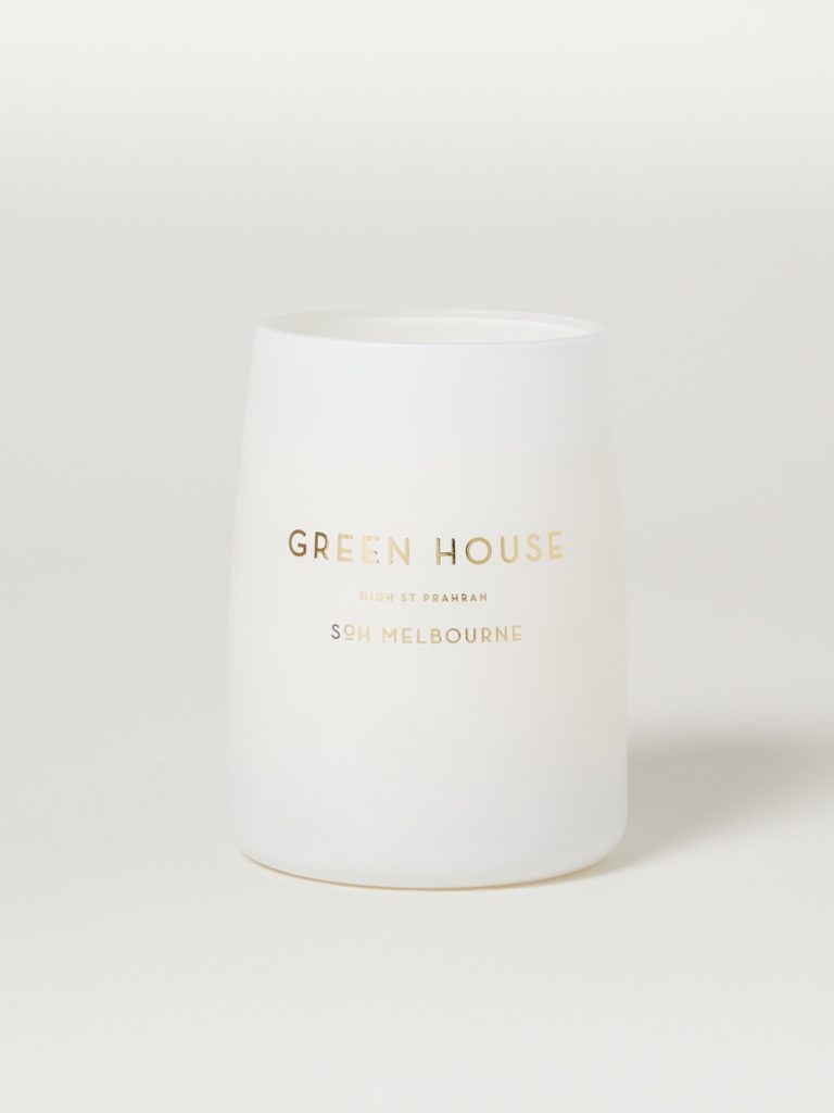Green House White Matte Candle $70.00