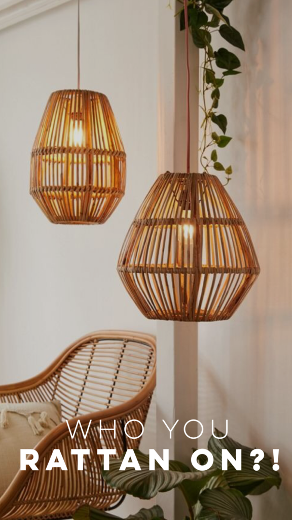 RATTAN GOES FROM VINTAGE TO MODERN