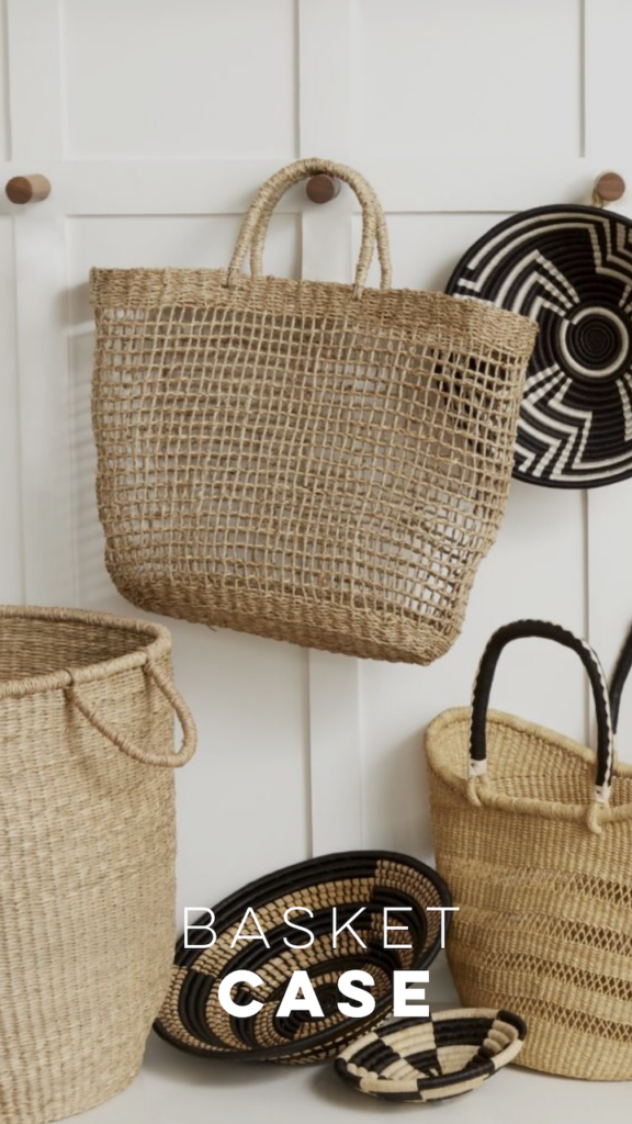 Baskets are not longer a thing of the past.
