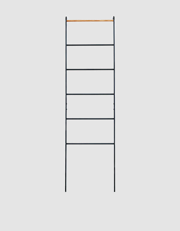 Yamazaki Home Tower Leaning Ladder Rack in Black $45.00