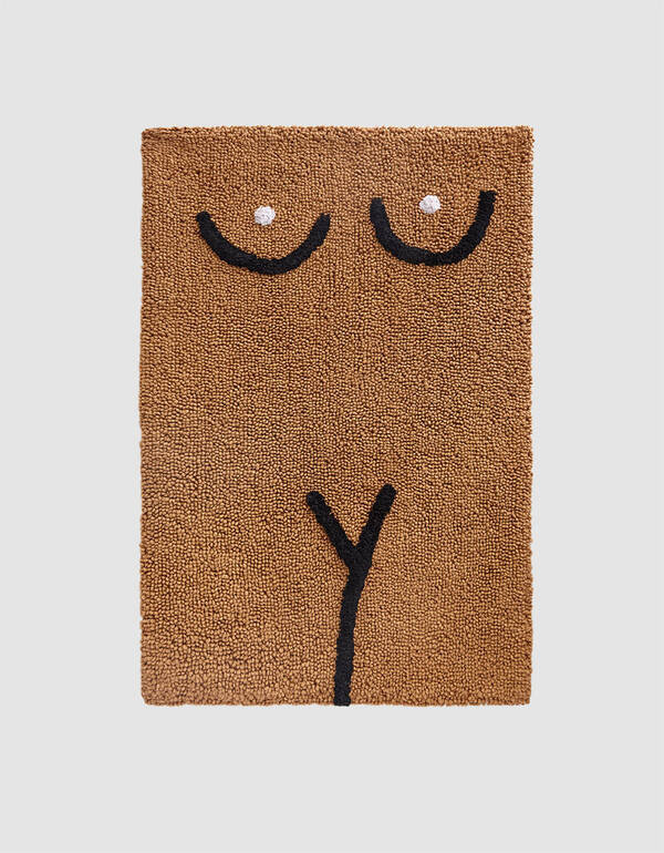 Cold Picnic Torso Bathmat in Brown $60.00