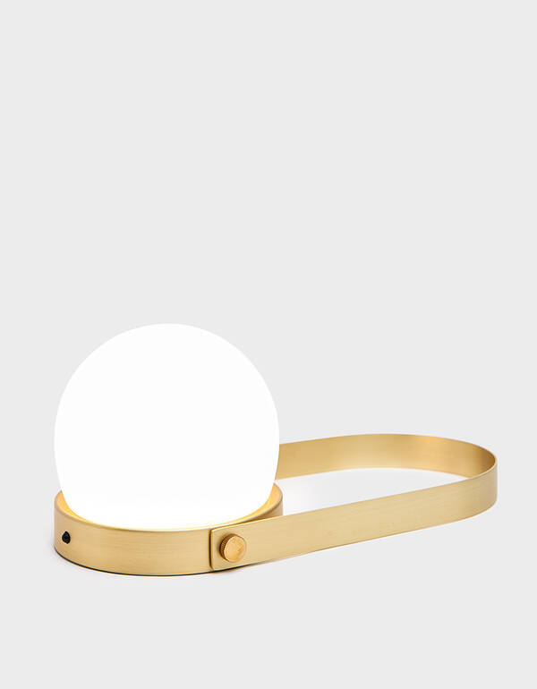 Menu Carrie Portable LED Lamp in Brushed Brass $250.00