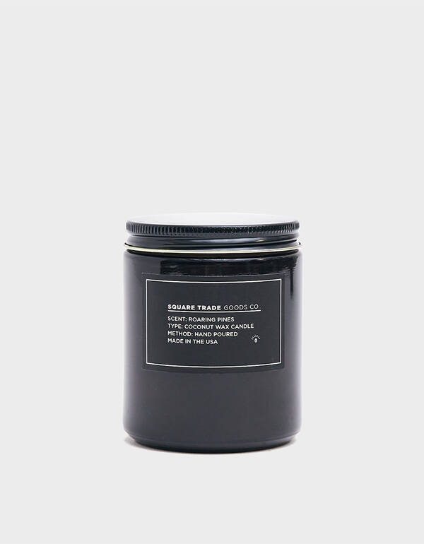Square Trade Goods Co. 8 oz. Roaring Pines Candle $28.00