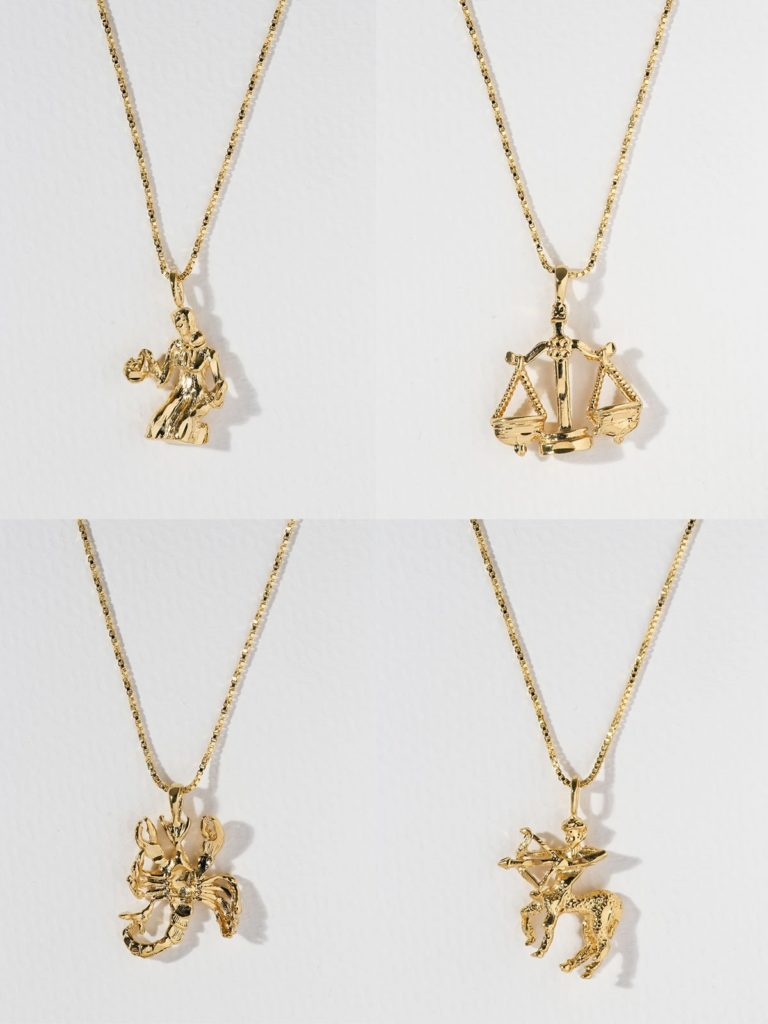 THE ZODIAC SIGN NECKLACES: VIRGO - SAGITTARIUS $58