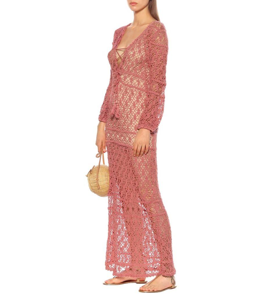 ANNA KOSTUROVA Bianca crochet cotton dress $198.00