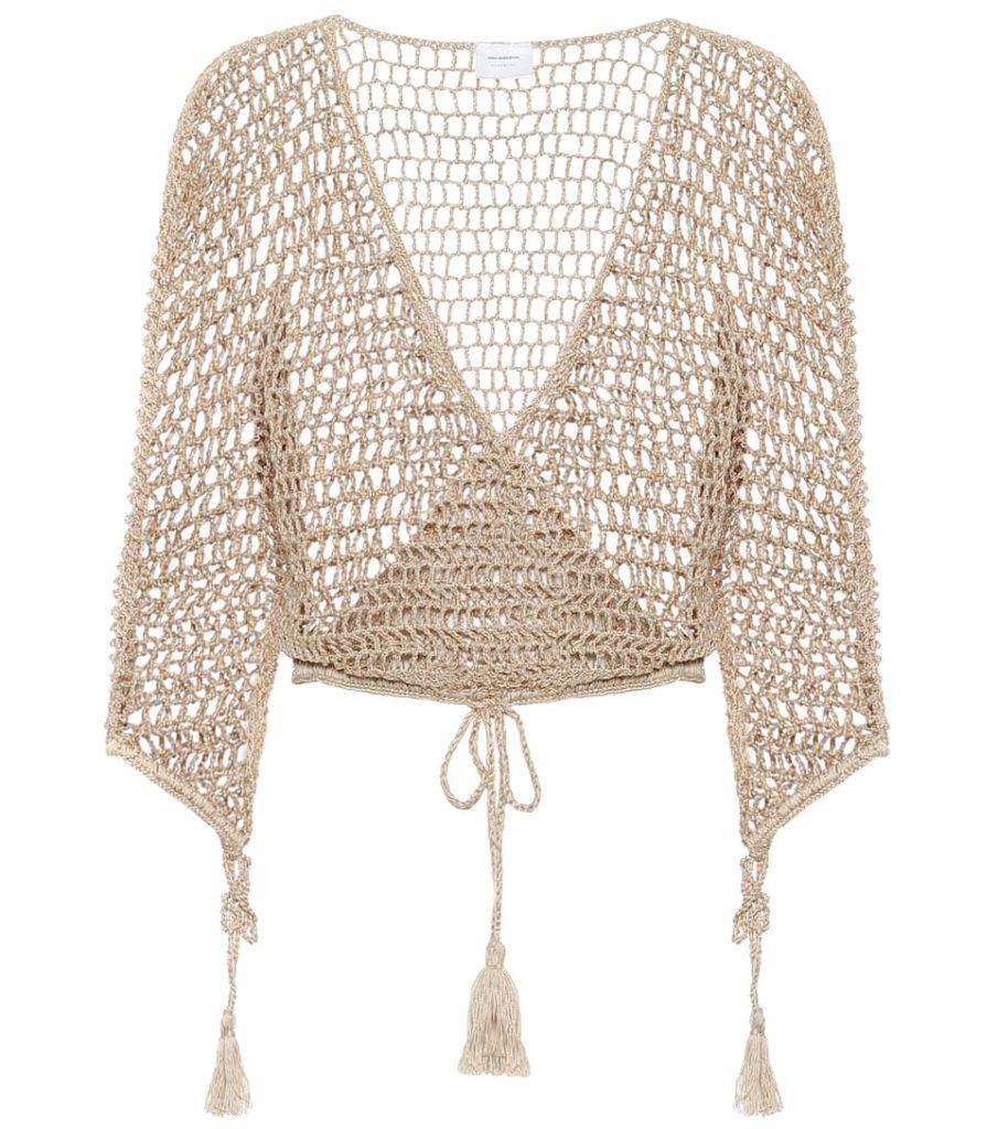 ANNA KOSTUROVA Cotton-crochet top$ 198