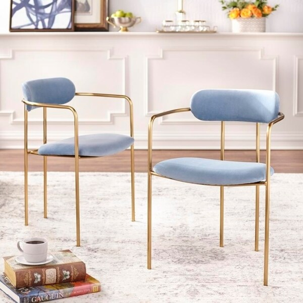 Simple Living Retro Velvet Dining Arm Chair (Set of 2) $235.49