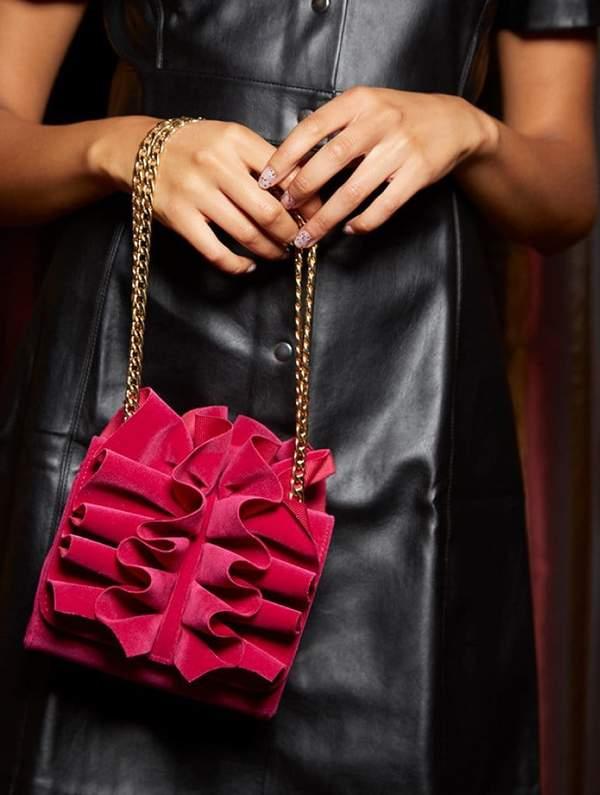 Kadie Velvet Cross Body Bag $25.00