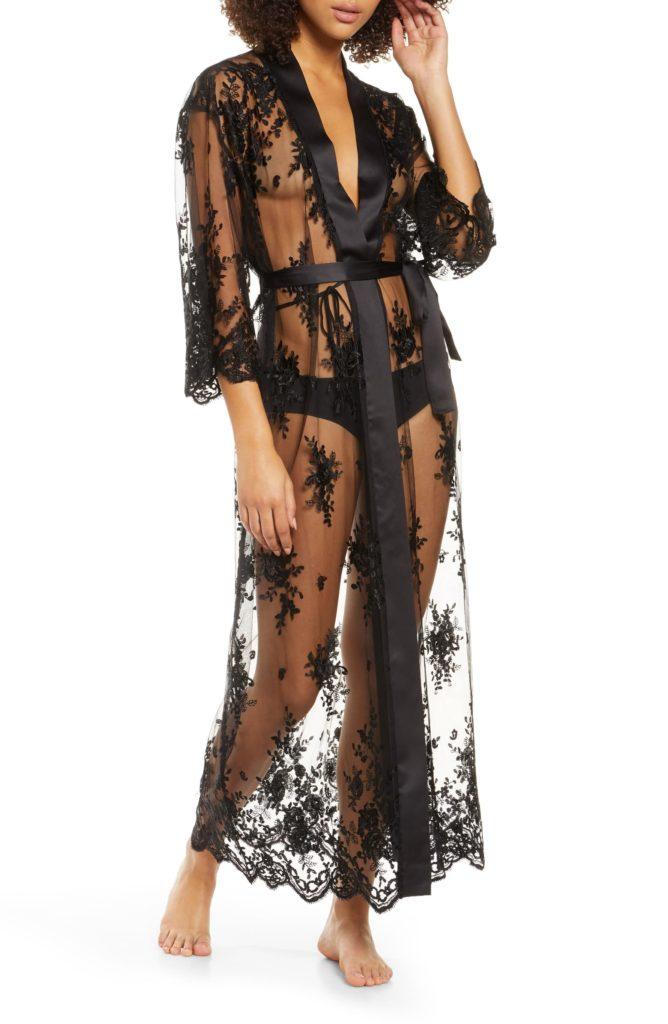 Darling Sheer Lace Robe RYA COLLECTION $142.00