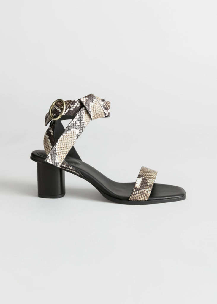 Leather Criss Cross Heeled Sandals$129